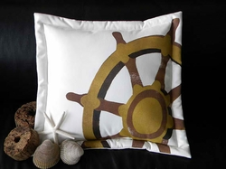 Ships Wheel Pillow
