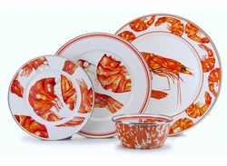 Shrimp Enamel Dinner Set