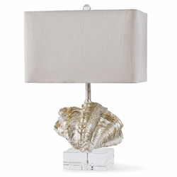Silver Giant Clam Shell Table Lamp