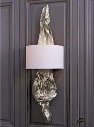 Silver Gilded Drift Wood Sconce
