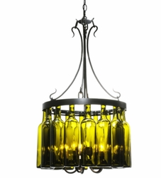 Sixteen Wine Bottle Chandelier