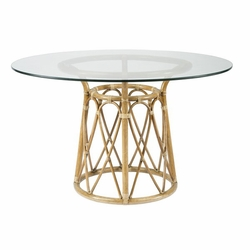 "Sona 48"" Rattan Dining Table Base in Clove or Nutmeg"