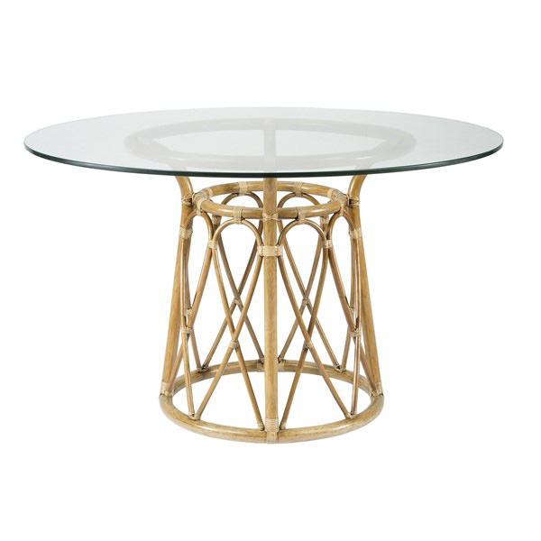 """Rattan Kitchen Table: Sona 48"""" Rattan Dining Table In Two Colors For Sale"""