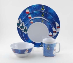 Spinnaker Melamine Dinnerware Collection with Platter & Beach Themed Melamine Dinnerware for Sale - Cottage \u0026 Bungalow
