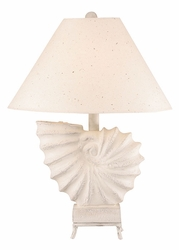 Square Nautilus Shell Lamp w/stand
