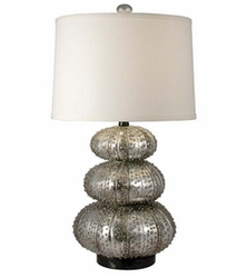 Stacked Silver Sea Urchin Table Lamp