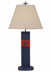 Star Fish Panel Table Lamp in Blue
