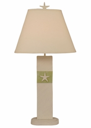 Star Fish Panel Table Lamp in Green