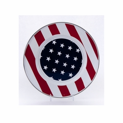 "Stars & Stripes 8.5"" Sandwich Plate Set of Four"