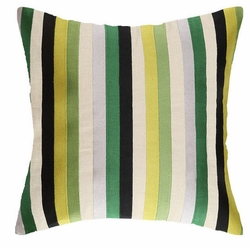 Straight Up Green Embroidered Pillow<font color=a8bb35> NEW</font>