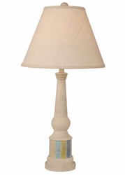 Multi Striped Pedestal Accent Lamp