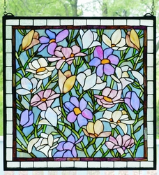 Sugar Magnolias Stained Glass Windowlight