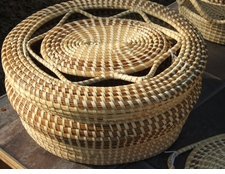 Sweetgrass  Basket with Openweave Cover