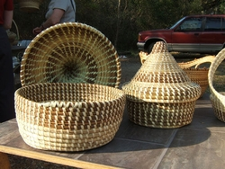 Sweetgrass Cone Top Baskets <font color=a8bb35> Discontinued</font>