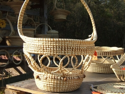 Sweetgrass  Open Weave with Handle <font color=a8bb35> Discontinued</font>