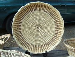 Sweetgrass Rice Fanner Basket <font color=a8bb35> Discontinued</font>