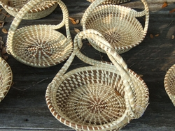 Sweetgrass Round Twisted Handle Baskets <font color=a8bb35> Discontinued</font>