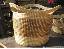 Sweetgrass Tall Basket with Loops
