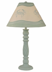 Swirl Table Lamp in Sky Blue