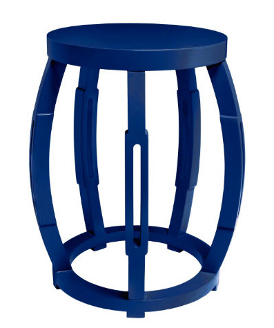 bungalow5 taboret table or stool in navy for sale cottage bungalow. Black Bedroom Furniture Sets. Home Design Ideas