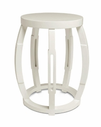 Taboret White Side Table/Stool