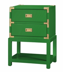 Tansu Two-Drawer Side Table - Green