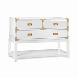 Tansu Console in High Gloss White