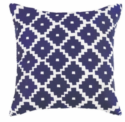 Taos Indigo Embroidered Pillow<font color=a8bb35> NEW</font>