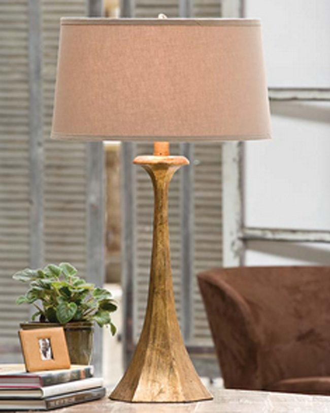 Tapered Gold Table Lamp For Sale Cottage Bungalow