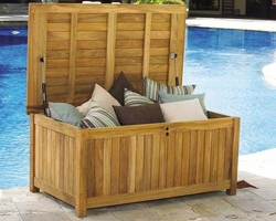 Teak Beach Cushion Storage Box