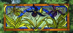 The Lady Slippers Stained Glass Window