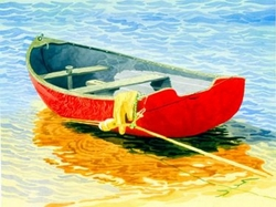 The Red Boat Beach Print