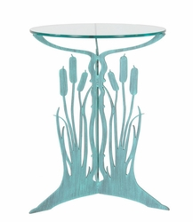 Tall Metal Cattail Pedestal