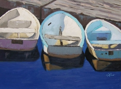Three Rowboats Giclee