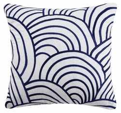 Tidal Embroidered Pillow<font color=a8bb35> NEW</font>