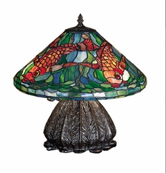 "Tiffany Koi Table Lamp 16""<font color=a8bb35> Discontinued</font>"