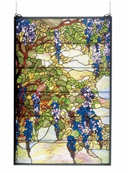 Tiffany Wisteria Stained Glass Window