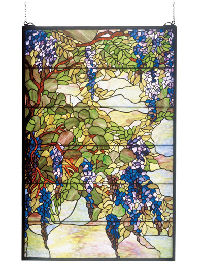 Tiffany Wisteria Stained Glass Window For Sale Cottage