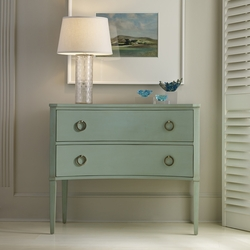 Transitional Two Drawer Concave Side Chest