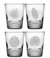 Tropical Foliage DOF Glasses Set of Four