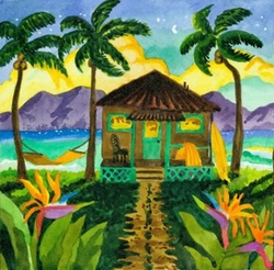 Tropical Twilight Beach Print