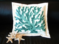 Turquoise Coral Indoor/Outdoor Pillow