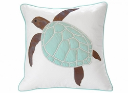 Turtle Indoor Pillow Seafoam Green