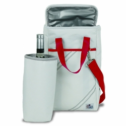 Two Bottle Insulated Wine Tote in Red