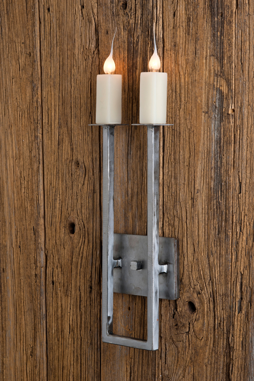 Two Light Low Country U Shape Sconce For Sale Cottage