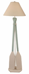 Two Paddle Floor Lamp in Aqua