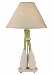 Two Paddle Table Lamp in Seagrass