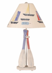 Two-Paddle Table Lamp
