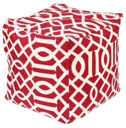Venetian Red Indoor/Outdoor Pouf <font color=cf2317> Discontinued</font>