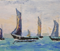 Vintage Sailboats Giclee